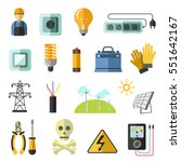 electricity equipment icons set.... | Shutterstock .eps vector #551642167
