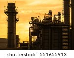 silhouette and petrochemical... | Shutterstock . vector #551655913