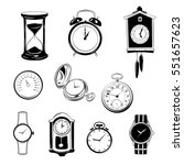 clock and watch collection... | Shutterstock .eps vector #551657623
