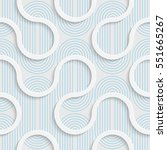 seamless contemporary ribbon... | Shutterstock .eps vector #551665267
