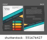 vector business flyer  magazine ... | Shutterstock .eps vector #551676427