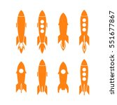 rocket icon and rocket... | Shutterstock .eps vector #551677867