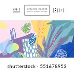 abstract creative header.... | Shutterstock .eps vector #551678953