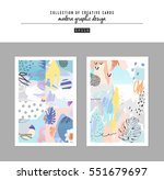set of artistic creative... | Shutterstock .eps vector #551679697