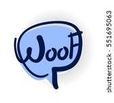 Comics Book Balloon. Woof  Dog...
