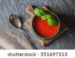 traditional italian tomato soup ... | Shutterstock . vector #551697313
