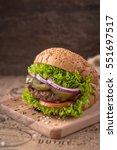 delicious fresh juicy burger...