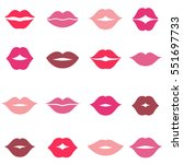 set of different women's lips...