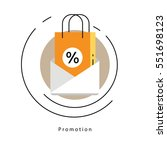 flat line modern corporate... | Shutterstock .eps vector #551698123