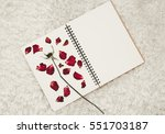 Press Dried Rose Flower Petals...