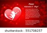 valentines background with red... | Shutterstock .eps vector #551708257