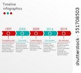 timeline infographics template... | Shutterstock .eps vector #551708503