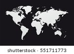 geometric world map isolated on ... | Shutterstock .eps vector #551711773