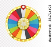 colorful wheel of luck or... | Shutterstock .eps vector #551716603
