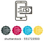 icon   digital wallet payment... | Shutterstock .eps vector #551723503