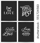 valentine's day minimal... | Shutterstock .eps vector #551724583
