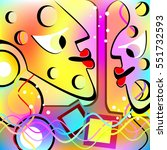 abstract people and objects... | Shutterstock . vector #551732593