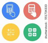 calculator vector icons set.... | Shutterstock .eps vector #551734333