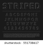 striped 3d extruded font and... | Shutterstock .eps vector #551738617