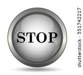 stop icon  black website button ... | Shutterstock . vector #551742217