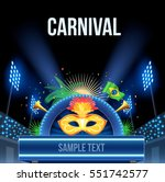 brazil carnival background | Shutterstock .eps vector #551742577