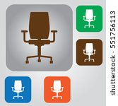 vector armchair icon. office... | Shutterstock .eps vector #551756113
