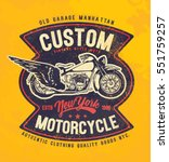 motorcycle. typography t shirt... | Shutterstock .eps vector #551759257