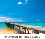 contemplating the sea path... | Shutterstock . vector #551766013