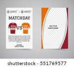 american football matchday back ... | Shutterstock . vector #551769577