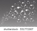 realistic vector isolated soap... | Shutterstock .eps vector #551772307