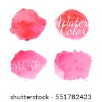 pink watercolor stains and... | Shutterstock .eps vector #551782423