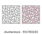 vector labyrinth 55. maze  ... | Shutterstock .eps vector #551783233