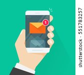new email notification on... | Shutterstock .eps vector #551783257