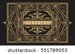 premium quality card. baroque... | Shutterstock .eps vector #551789053