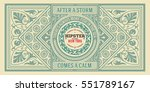 baroque ornaments and floral... | Shutterstock .eps vector #551789167