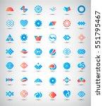 vector set of 42 abstract logos ... | Shutterstock .eps vector #551795467