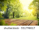 wooden desk of free space and... | Shutterstock . vector #551798017