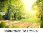 wooden desk of free space and... | Shutterstock . vector #551798047