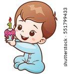 vector illustration of cartoon... | Shutterstock .eps vector #551799433
