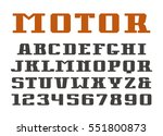 serif font and numerals.... | Shutterstock .eps vector #551800873
