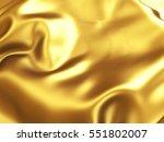 golden satin wavy texture... | Shutterstock . vector #551802007