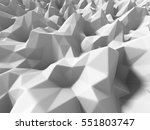 white abstract chaotic poligon... | Shutterstock . vector #551803747