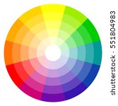 illustration of printing color wheel with twelve colors in gradations | Shutterstock vector #551804983