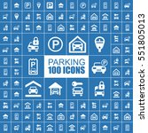 parking place vector flat icons. | Shutterstock .eps vector #551805013