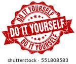 do it yourself. stamp. sticker. ... | Shutterstock .eps vector #551808583