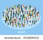 Professional society isometric background with people of different occupations and jobs isolated vector illustration | Shutterstock vector #551809423