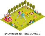 colored 3d isometric kids... | Shutterstock .eps vector #551809513