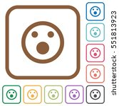 shocked emoticon simple icons... | Shutterstock .eps vector #551813923
