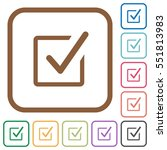 checked box simple icons in... | Shutterstock .eps vector #551813983