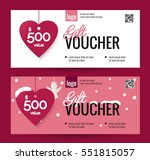 gift voucher coupon discount... | Shutterstock .eps vector #551815057